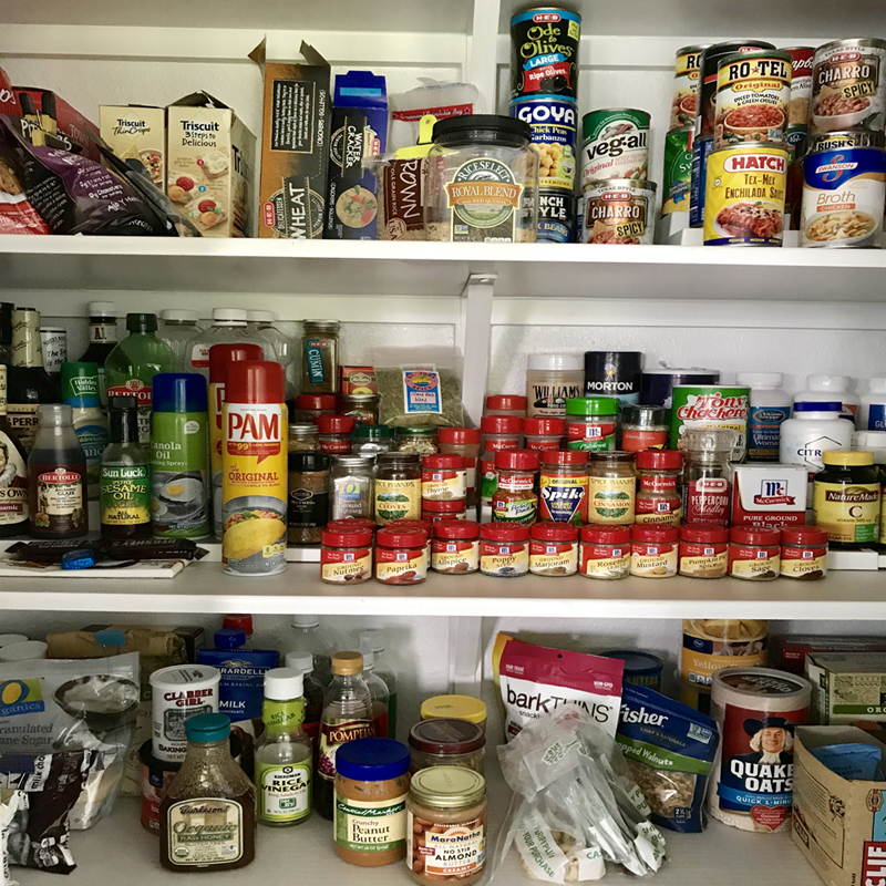An Organized Pantry.
